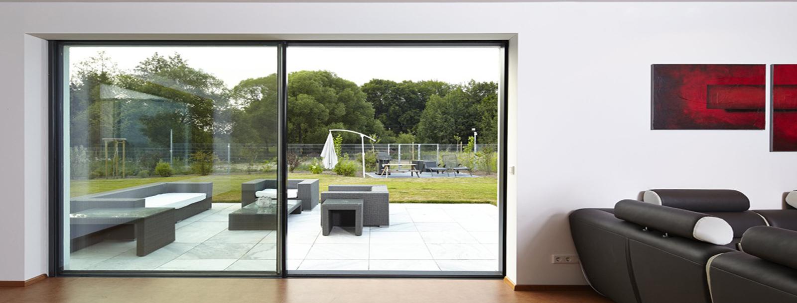 Fen tres baies vitr es dsm habitat for Habitat contemporain